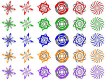 De abstracte VectorElementen van het Ontwerp van het Pictogram van het Embleem Royalty-vrije Stock Afbeeldingen