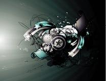 De abstracte vectorillustratie van Grunge Stock Afbeelding