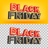 De abstracte vectorinschrijving van Black Friday van 2016 Voor creatief kunstontwerp, lijst, pagina, de stijl van het modelthema, Stock Foto's