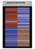 De abstracte vectorreeks van het strookpatroon. Royalty-vrije Stock Afbeelding
