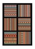 De abstracte vectorreeks van het strookpatroon. Stock Foto's