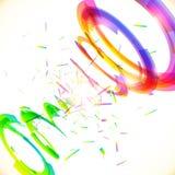 De abstracte vectorregenboog kleurt tornado Stock Afbeelding