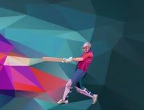 De abstracte veelhoekige lage polyillustratie van de veenmolspeler Stock Afbeelding