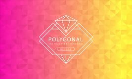 De abstracte veelhoekige roze gele textuur als achtergrond, doorboort gele geweven, de achtergronden van de bannerveelhoek, vecto vector illustratie