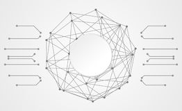 De abstracte verbinding van de de krings digitale verbinding van de technologiecirkel op hallo Royalty-vrije Stock Foto