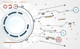 De abstracte verbinding van de de krings digitale verbinding van de technologiecirkel op hallo Stock Afbeelding