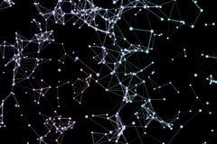 De abstracte verbinding van netwerkgegevens Royalty-vrije Stock Foto