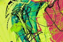 De abstracte verf kleurt achtergrond Stock Fotografie