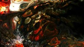 De abstracte verf van de mysticus magische inkt explodeert uitgespreid stock footage
