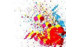 De abstracte verfkleur en ploetert kleurenachtergrond Stock Afbeeldingen