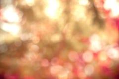 De abstracte verlichting van de onduidelijk beeld zoete kleur bokeh als achtergrond Royalty-vrije Stock Foto
