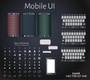 De abstracte vezel van de gebruikers mobiele interface vector illustratie
