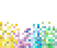 De abstracte vierkante achtergrond van het pixelmozaïek Royalty-vrije Stock Fotografie