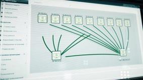 De abstracte virusbesmetting spreidt uit in een netwerk uit Digitale abstracte technologie met een virus die al bedreigen vector illustratie