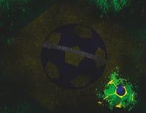 De abstracte Vlag van het Land van Brazilië stock illustratie
