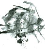 De abstracte zwarte vlekken van de Inkt Royalty-vrije Illustratie