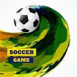 De abstracte voetbal van de grungestijl vector illustratie