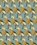 De abstracte vogelsachtergrond, vormt naadloos patroon, vectorbehang Stock Foto