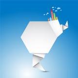 De abstracte Vorm van de Origami Stock Foto