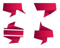 De abstracte Vorm van de Origami Stock Afbeeldingen