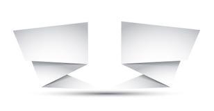 De abstracte Vorm van de Origami Stock Foto's