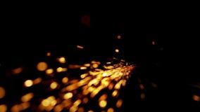 De abstracte vorm van het bespatten sparklets zoals komeet verwijdert rechtstreeks van aan wright de steel stock footage