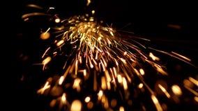 De abstracte vorm van het bespatten sparklets zoals komeet verwijdert rechtstreeks van aan wright de steel stock video