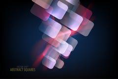 De abstracte vorm van de vierkanten doorzichtige kleur Stock Fotografie