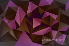 De abstracte vormen kleuren lage poly Royalty-vrije Stock Afbeelding