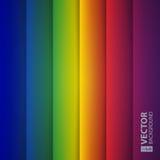 De abstracte vormen van de regenboogrechthoek vector illustratie