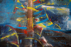 De abstracte vormen van de verftextuur Stock Afbeelding