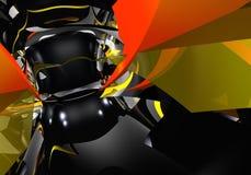 De abstracte vormen van Yellow&red Royalty-vrije Stock Foto