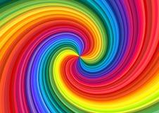 De abstracte Werveling van de Regenboog stock illustratie