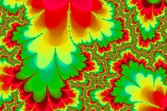 De abstracte Werveling van de Regenboog Psychedelische fractal stock illustratie