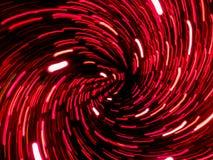 De abstracte werveling van rood lichtslepen Royalty-vrije Stock Foto