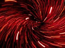 De abstracte werveling van rood lichtslepen Stock Foto's