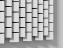 De abstracte Witte Achtergrond van de Kubussenmuur Stock Foto's