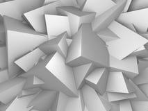 De abstracte Witte Achtergrond van de Kubussenmuur Stock Foto