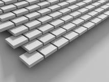 De abstracte Witte Achtergrond van de Kubussenmuur Stock Afbeelding