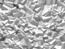 De abstracte Witte Achtergrond van de Kubussenmuur Royalty-vrije Stock Foto