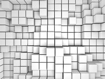 De abstracte Witte Achtergrond van de Kubussenmuur Royalty-vrije Stock Afbeelding