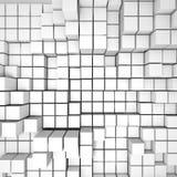 De abstracte Witte Achtergrond van de Kubussenmuur Royalty-vrije Stock Foto's