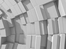 De abstracte Witte Achtergrond van de Kubussenmuur Royalty-vrije Stock Afbeeldingen