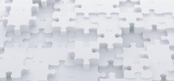 De abstracte Witte Hoogste Mening van Raadselstukken Stock Fotografie
