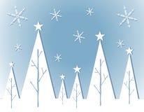 De abstracte Witte Kaart van de Kerstboom vector illustratie