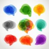 De abstracte wolken van de kleurentoespraak Royalty-vrije Stock Afbeeldingen