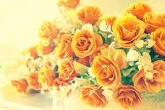 De abstracte zachte mooie nadruk nam bloem toe Stock Fotografie