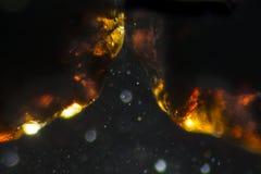 De abstracte zandkorrels kijken als kosmische ruimte Stock Fotografie