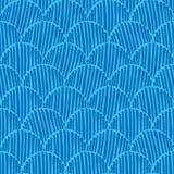 De abstracte zwart-wit achtergrond van het krabbel fishscale naadloze vectorpatroon voor stof, behang, het scrapbooking, kaarten royalty-vrije illustratie