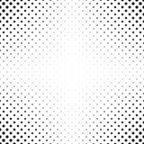 De abstracte zwart-wit achtergrond van het puntpatroon royalty-vrije illustratie